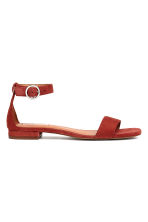 Suede sandals - Rust red - Ladies | H&M GB 2
