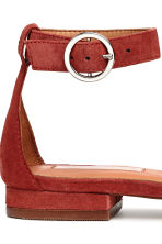 Suede sandals - Rust red - Ladies | H&M 5