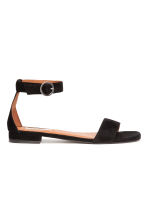 Suede sandals - Black - Ladies | H&M CA 2