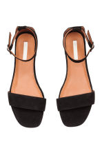 Suede sandals - Black - Ladies | H&M CA 3