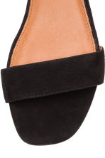 Suede sandals - Black - Ladies | H&M CA 4