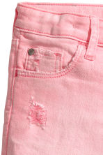Denim shorts - Washed-out pink - Kids | H&M CN 5