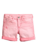 Denim shorts - Washed-out pink - Kids | H&M CN 2