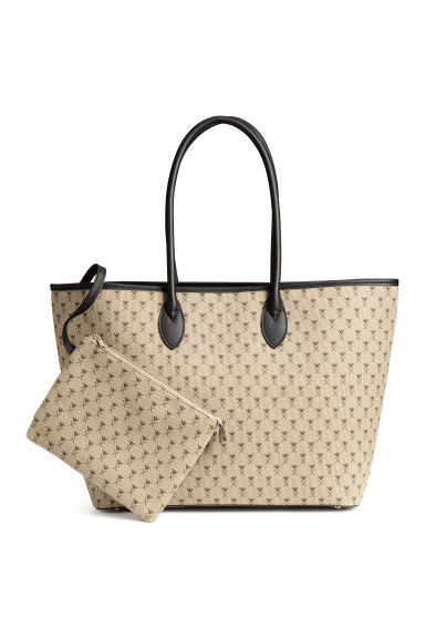 Patterned shopper - Light beige/Pattern -  | H&M