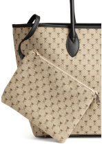 Patterned shopper - Light beige/Pattern - Ladies | H&M CN 3