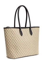 Patterned shopper - Light beige/Pattern - Ladies | H&M CN 2