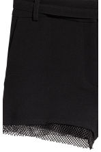 Shorts with mesh trims - Black - Ladies | H&M 3