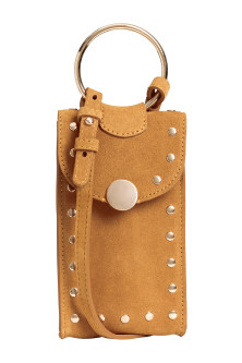 Suede mobile phone bag