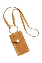 Suede mobile phone bag - Camel - Ladies | H&M 3