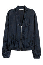 Jacquard-weave jacket - Dark blue/Patterned - Ladies | H&M CA 2
