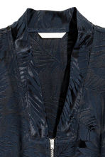 Jacquard-weave jacket - Dark blue/Patterned - Ladies | H&M CA 3