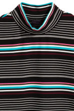 Turtleneck T-shirt - Black/Striped - Men | H&M 3