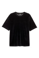 T-shirt in velour - Nero - UOMO | H&M IT 2