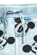 Joggers - Light blue/Mickey Mouse - Kids | H&M 3