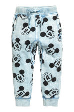 Joggers - Light blue/Mickey Mouse - Kids | H&M 2