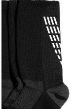 3-pack running socks - Black - Men | H&M 2