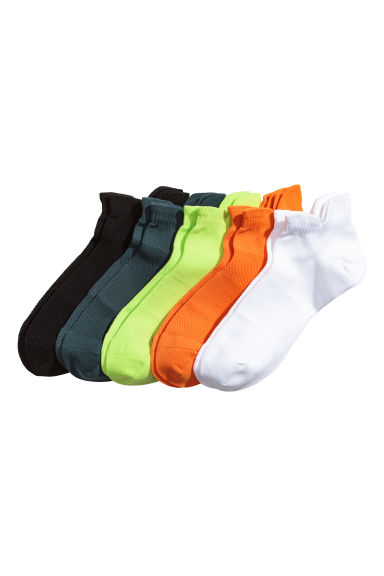 5-pack sports socks - White/Orange - Men | H&M 1