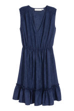Jacquard-weave dress - Dark blue - Ladies | H&M 2