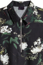 Short-sleeved shirt - Black/Floral - Men | H&M 3