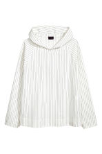 Pinstriped hooded top - White/Striped - Men | H&M CN 2