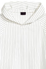 Pinstriped hooded top - White/Striped - Men | H&M CN 4