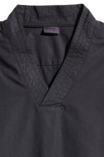 V-neck cotton shirt - Black -  | H&M CN 3