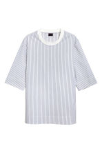 Cotton-weave T-shirt - White/Striped - Men | H&M 2