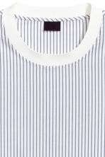 Cotton-weave T-shirt - White/Striped - Men | H&M 3