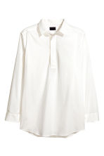 Wide cotton tunic - White - Men | H&M 2