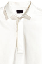 Wide cotton tunic - White - Men | H&M 3