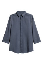 Lyocell-blend shirt - Dark grey-blue - Men | H&M CN 2
