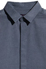 Lyocell-blend shirt - Dark grey-blue - Men | H&M 3