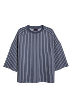 Oversized T-shirt - Dark blue/Striped - Men | H&M CN 2