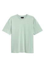 Mercerised cotton T-shirt - Dusky green - Men | H&M CN 2