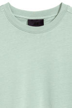 Mercerised cotton T-shirt - Dusky green - Men | H&M CN 3