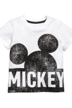 3-part jersey set - White/Mickey Mouse - Kids | H&M 4
