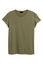 Cotton T-shirt - Khaki green - Men | H&M 2