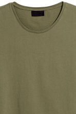 Cotton T-shirt - Khaki green - Men | H&M 3