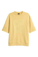Short-sleeved sweatshirt - Yellow - Men | H&M 2