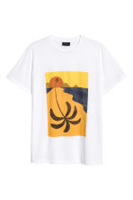 T-shirt with a print motif - White/Palm - Men | H&M 2
