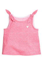 Top en jersey - Rose/pois -  | H&M FR 1