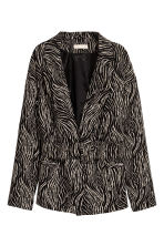 Belted jacket - Zebra print - Ladies | H&M 2