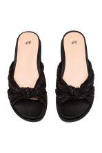 Satin mules - Black - Ladies | H&M CN 3