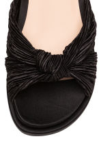 Satin mules - Black - Ladies | H&M CN 4
