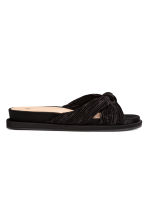 Satin mules - Black -  | H&M CA 2
