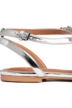 Sparkly stone sandals - Silver - Ladies | H&M 4