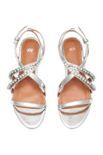 Sparkly stone sandals - Silver - Ladies | H&M 2