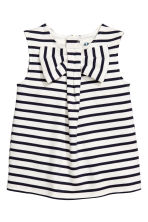 Sleeveless top with a bow - White/Dark blue/Striped - Kids | H&M 2
