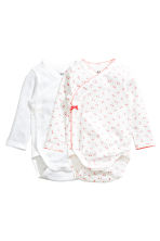 2-pack long-sleeved bodysuits - White - Kids | H&M CN 1