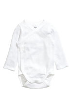 2-pack long-sleeved bodysuits - White - Kids | H&M CN 2
